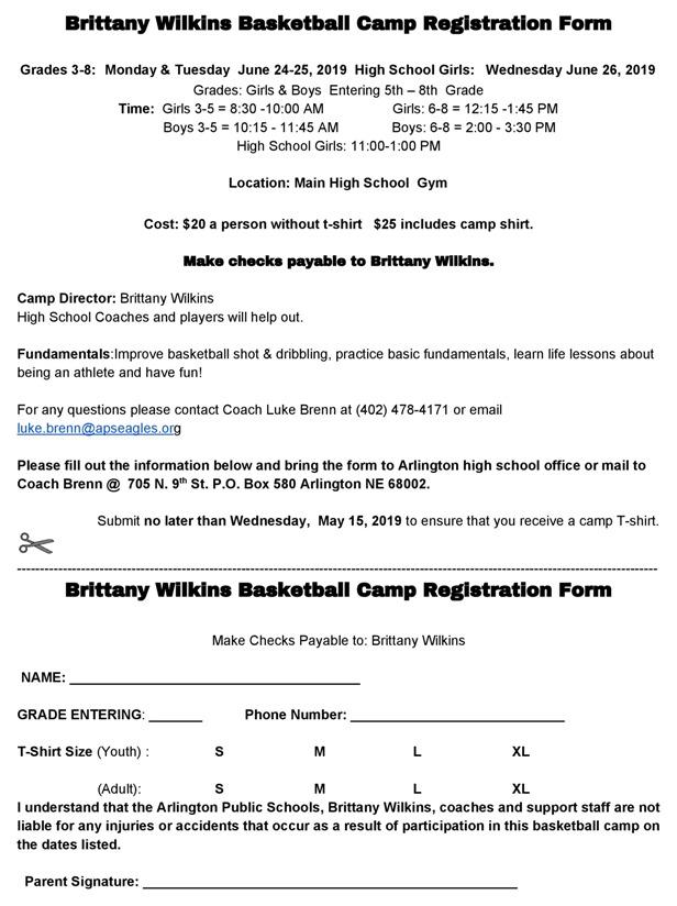 Arlington Public Schools - Information on APS Summer Athletic Camps